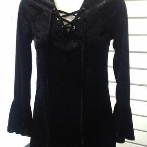 NEW!!  Black velvet tunic by Adore!